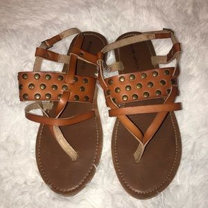 Mossimo Brown studded Sandals